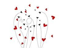 Illustrazione di giorno del bello biglietto di S. Valentino Immagini Stock