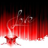Illustrazione di giorno del biglietto di S. Valentino. Fotografia Stock Libera da Diritti