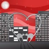 Illustrazione di giorno del biglietto di S. Valentino Immagine Stock