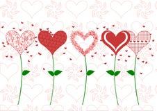 Illustrazione di giorno di biglietti di S. Valentino Fotografia Stock Libera da Diritti