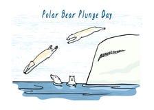 Illustrazione di giorno di immersione dell'orso polare royalty illustrazione gratis
