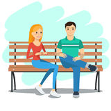 Illustrazione di giovani coppie Fotografia Stock
