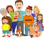 Illustrazione di grande ritratto della famiglia Fotografie Stock Libere da Diritti