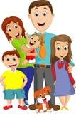 Illustrazione di grande ritratto della famiglia Immagine Stock