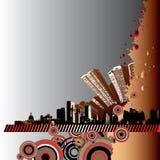 Illustrazione di Grunge della città Fotografia Stock
