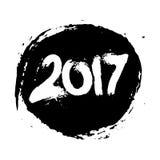 Illustrazione di Grunge 2017 l'anno dell'isolato del gallo Fotografia Stock