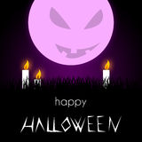 Illustrazione di Halloween - cattiva luna royalty illustrazione gratis
