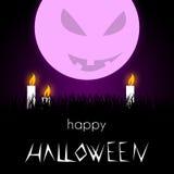 Illustrazione di Halloween - cattiva luna Fotografia Stock Libera da Diritti