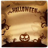 Illustrazione di Halloween con il posto per testo Immagine Stock Libera da Diritti