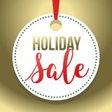 Illustrazione 2 di Hang Tag Holiday Sale Vector dell'oro Fotografie Stock Libere da Diritti
