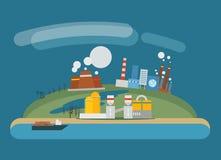 Illustrazione di industria petrolifera moderna Fotografie Stock