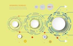 Illustrazione di Infographics e costruire teleco digitale Fotografia Stock