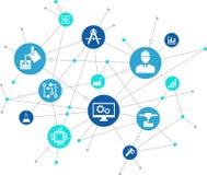 Illustrazione di ingegneria: digitalizzazione, tecnologia, innovazione illustrazione vettoriale