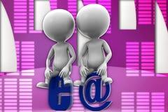 illustrazione di Internet dell'uomo 3d Fotografie Stock