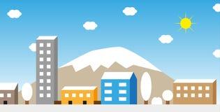 Illustrazione di inverno della città Illustrazione di Stock