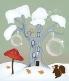 Illustrazione di inverno di fantasia Fotografia Stock Libera da Diritti