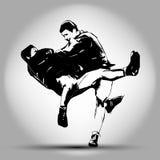 Illustrazione di judo Illustrazione della mano Immagine Stock