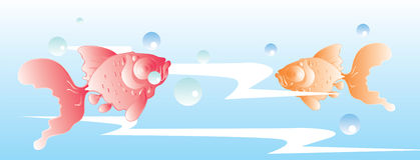 Illustrazione di Koi Immagine Stock Libera da Diritti
