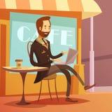 Illustrazione di lavoro dell'uomo d'affari Immagini Stock Libere da Diritti