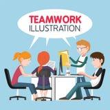 Illustrazione di lavoro di squadra Fotografia Stock