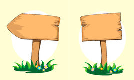 Illustrazione di legno del fumetto del cartello Vettore Fotografia Stock Libera da Diritti