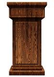 Illustrazione di legno del podio 3D Fotografia Stock