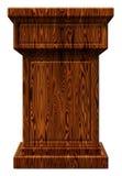 Illustrazione di legno del podio 3D Immagini Stock Libere da Diritti