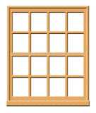 Illustrazione di legno della finestra Fotografie Stock Libere da Diritti