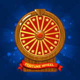Illustrazione di legno della ruota di fortuna per l'elemento del gioco di Ui Fotografie Stock