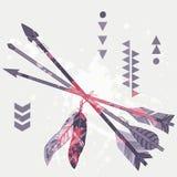 Illustrazione di lerciume di vettore delle frecce etniche differenti Illustrazione di Stock