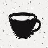Illustrazione di lerciume di vettore di una tazza di caffè Royalty Illustrazione gratis