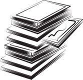 Illustrazione di libri   Fotografia Stock