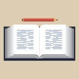 Illustrazione di libro aperta Illustrazione di Stock