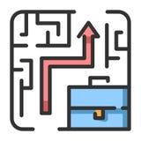 Illustrazione di LineColor della soluzione di affari illustrazione di stock