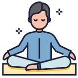 Illustrazione di LineColor di meditazione royalty illustrazione gratis