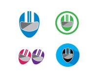 illustrazione di logo dell'icona di vettore del casco illustrazione vettoriale