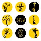 Illustrazione di logo della giraffa di vettore Immagini Stock Libere da Diritti