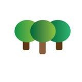 Illustrazione di logo della società dell'albero Fotografia Stock Libera da Diritti