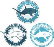 Illustrazione di logo dello squalo di vettore Fotografia Stock