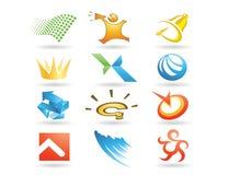 Illustrazione di logo di progettazione Fotografie Stock