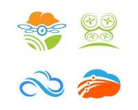Illustrazione di Logo Template di tecnologia immagini stock libere da diritti