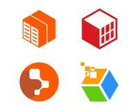 Illustrazione di Logo Template di tecnologia fotografie stock
