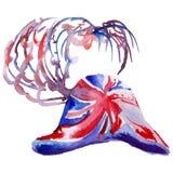 Illustrazione di Londra dell'acquerello Simboli disegnati a mano della Gran Bretagna Immagine Stock Libera da Diritti