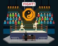 Illustrazione di lotta di arti marziali illustrazione vettoriale