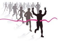 Illustrazione di maratona Fotografia Stock