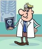 Illustrazione di medico del fumetto con i raggi x Fotografia Stock