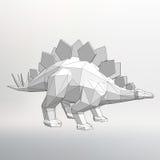 Illustrazione di modello di Vector del dinosauro Triangolo del poligono La griglia strutturale dei poligoni Fondo creativo astrat Fotografie Stock Libere da Diritti