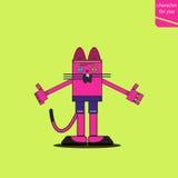 Illustrazione di modo del gatto Immagine Stock