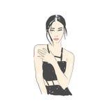 Illustrazione di modo della donna Fotografia Stock