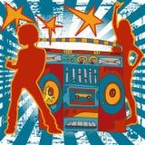 Illustrazione di musica Immagini Stock Libere da Diritti